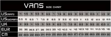 Slip On Size Chart Vans Solid Colours Slip On Black Black Golders Toowoomba