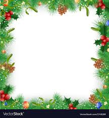 and new year frame vector image