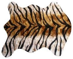 tiger skin rug faux tiger skin rug large fake tiger skin rug with full head
