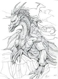Dragon Coloring Pages Realistic To Print Scary Sheets Drag