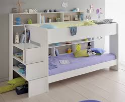 kids avenue bibop 2 white bunk bed with shelves the home and office s