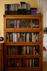 lighting delightful bookcases with glass doors