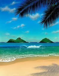 hawaii painting beach scene paradise giclee canvas prints beach scenes and paintings