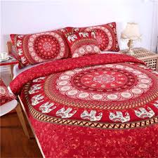 indian style duvet covers uk red mandala colorful bedding set elephant cover with