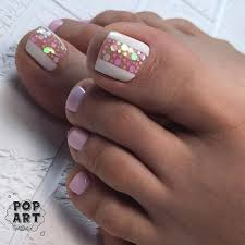 Cute Pedicure Designs Such A Cute Design For Summer Toes By Pop Art_nail