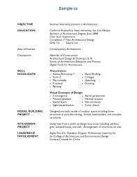 Architect Job Related Cv Sample ...