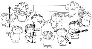 Kleurplaat Orkest Dick Bruna Hudební Nástroje Muziek Orkest En