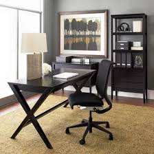 gray home office. Miscellaneous - Dark Wood, Gray Walls, Ceramic Lamp, CB Home Office