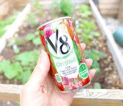 v8 is for farm grown vegetables