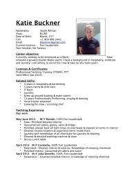 Food Service Job Description Resume  resumes for servers resume     Resume Sample CV for Yacht Crew Members   food service job description resume