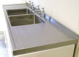 ribbed drainers heavy duty fabricated bowls double bowl sit on sink top with double drainers