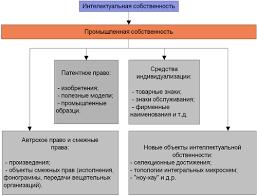 Реферат Правовые и индивидуальные методы защиты интеллектуальной  cхема интеллектуальнной собственности
