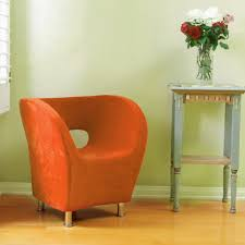 Bright Orange Accent Chairs For Living Room
