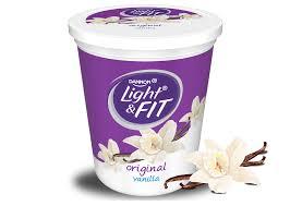 Great Value Light Vanilla Greek Yogurt Nutrition Facts Vanilla Nonfat Yogurt Light Fit