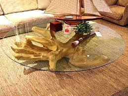 coffee table table tree end table photo of tree stump coffee table with glass top intended