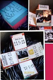 this explosion box made for boyfriend year diy anniversary gift ideas birthday handmade wedding invitation kit where exploding template love him card cute