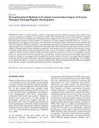 Pdf Perception Based Methods To Evaluate Conservation