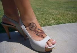 Dream Catcher Foot Tattoo Girl Have Dreamcatcher Tattoo On Right Foot Tat Pinterest 11