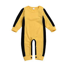 Boys Lee Jeans Size Chart Boys Classic Jumpsuit Dacawin Toddler Infant Baby Classic Yellow Bruce Lee Romper Clothes