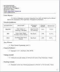 Simple Resume Format Pdf Bkperennials
