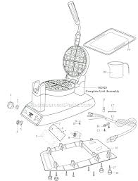 WMK300_WW_1 waring wmk300 parts list and diagram ereplacementparts com on waffle maker wiring diagrams