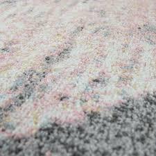 Szczegóły O Teppich Wohnzimmer Modern In Grau Weiß Rosa Pastell Dreieck Muster Vintage Look