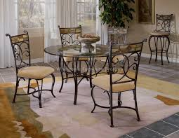 glass round dining table set glass kitchen table sets