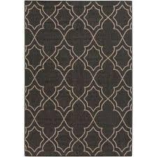 anderson black 6 ft x 9 ft indoor outdoor area rug