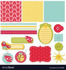 Art Design For Scrapbook Design Elements For Baby Scrapbook