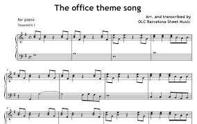 Image Result For Piano Sheet Music Office Theme Song