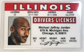 Jordan Illinois - Drivers Novelty License Michael