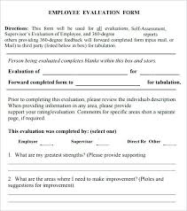 Employee Self Evaluation Form Free Staff Appraisal Forms Download ...
