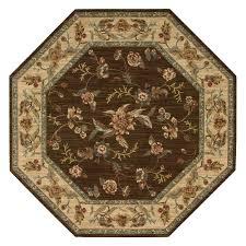 nourison 8 x 8 brown octagon