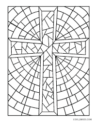 Cross Coloring Pages Stained Glass Cross Coloring Page Easter Cross