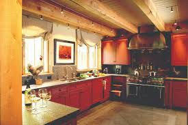 lighting for beams. Cool Cable Lighting Between Beams In Rustic Modern Kitchen Renovation For S