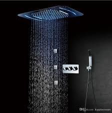Großhandel Duschpaneel 380x580mm Große Regenduschkopf 304sus Badezimmer Decken Duschkopf Mit Verstellbarer Dusche Und 4 Wege Umstellventil Von