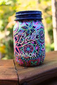 personalized hand painted sorority mason jar by megsz on