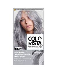 Colorista Silver Grey Permanent Hair Dye Gel Silver Grey