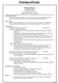 Combined Resume Resume Combination Resume Samples 11