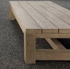 wood outdoor coffee table aline art