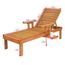furniture deck. Giantex Patio Chaise Sun Lounger Outdoor Furniture Garden Side Tray Deck Chair Modern Wood Beach Lounge HW56771-in Loungers From On N