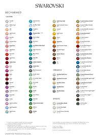 Swarovski Crystal Color Chart Actual Rhinestones Precise Swarovski Chart Swarovski Transfers Colour Chart