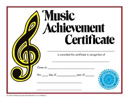 Achievement Certificate Music Achievement Certificate Va236cl Hayes School Publishing