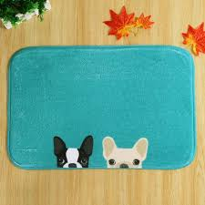 fancy two dog soft absorbent non slip door carpet