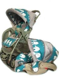 strollers seat covers items similar to turquoise elephant grey dot stroller seat cover and canopy set