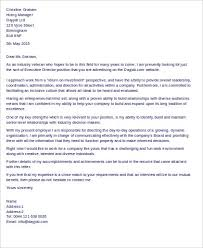 Sample Executive Cover Letters 10 Examples In Word Pdf