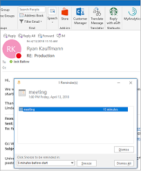 Email Reminder Set Or Remove Reminders Outlook