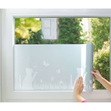 Fenster Sichtschutz Folie Katze Waschbär