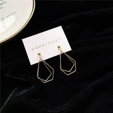2020 New Korean Gold Vintage Earrings For Women Metal Big ...