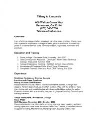 Cover Letter Examples Part Time Job